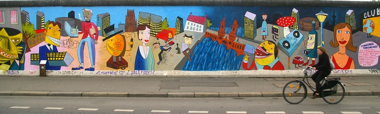 Mural by Jim Avignon at the East Side Gallery