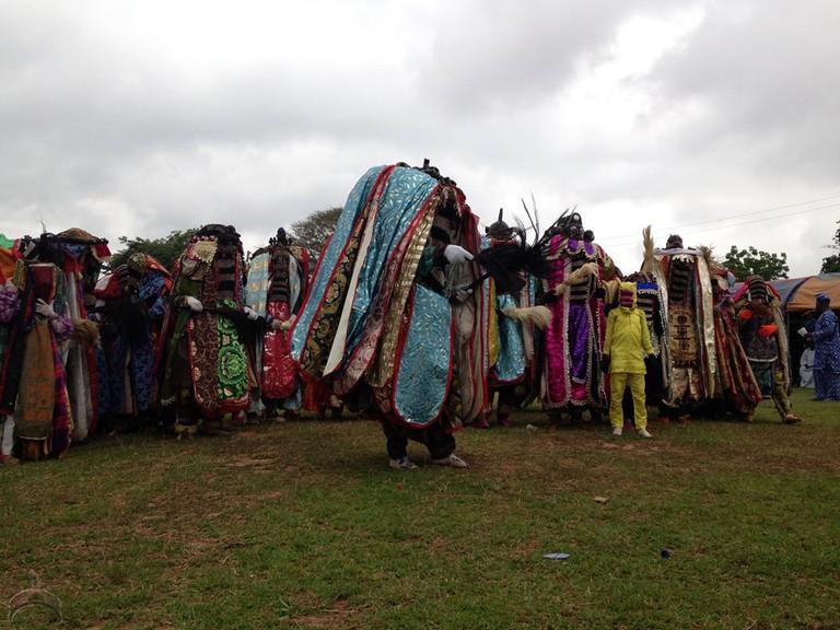 Egungun in Alaafin of Oyo Palace
