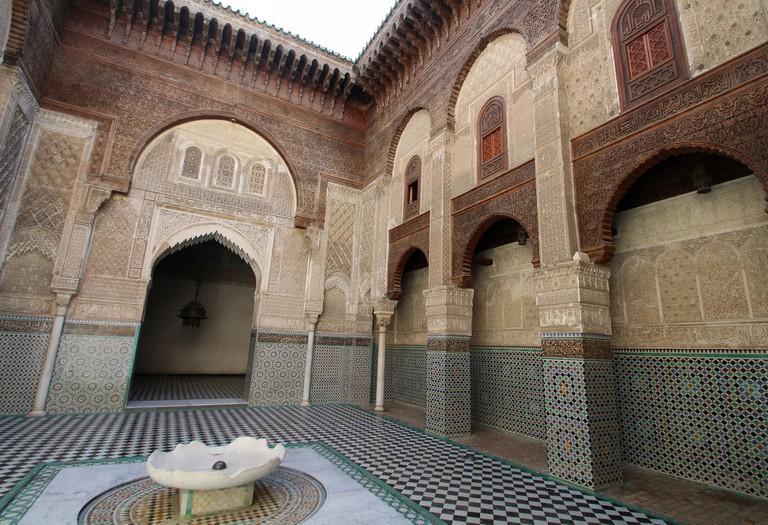 Inside Medersa el-Attarine