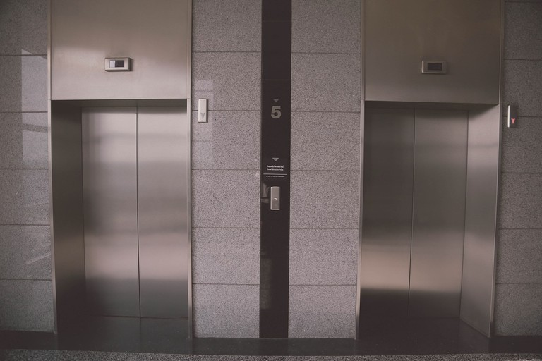 The Swiss linger in elevators