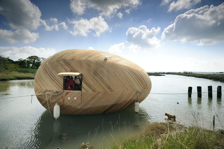 Exbury Egg located on the shore of Beaulieu River