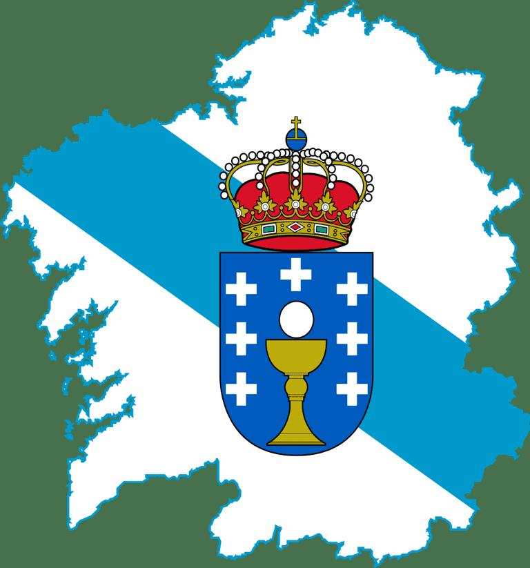 flag map of Galicia | ©Pedro A. Gracia Fajardo / Wikimedia Commons