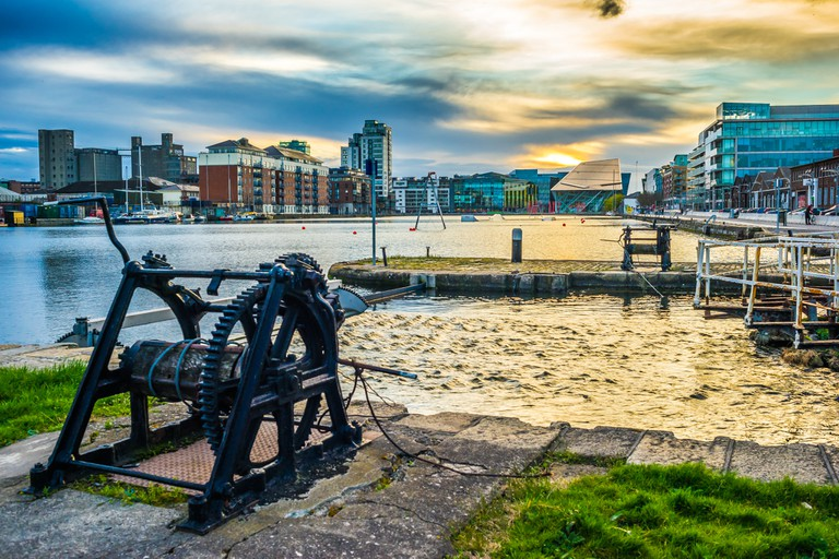 Sunset on the Grand Canal Docks