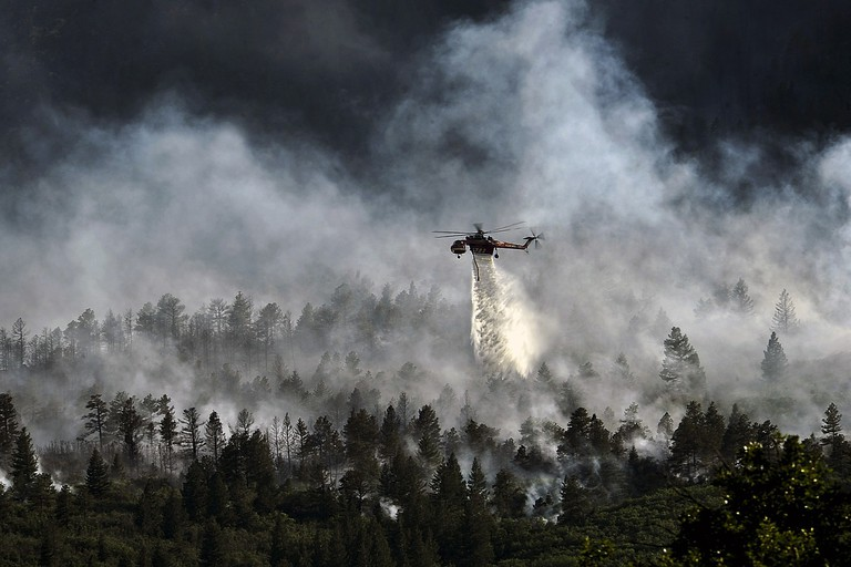 Helicopter assistance is another crucial element to fighting forest fires.