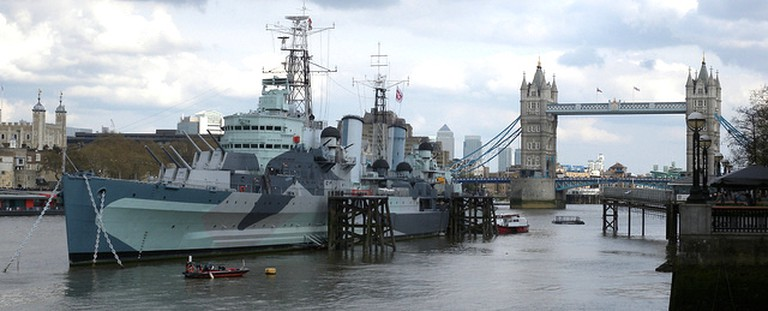 HMS Belfast in the River Thames