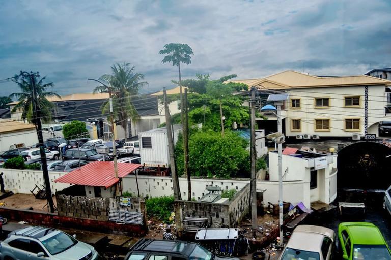 """Iga Idunganran,"" the Oba's palace, Lagos"