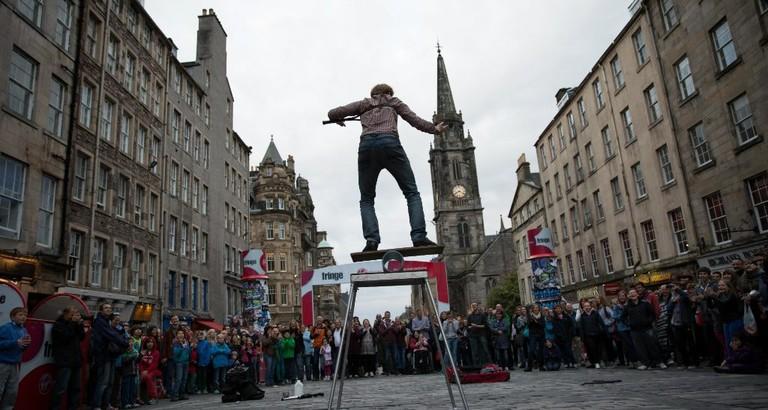 Street Performer At Edinburgh Fringe