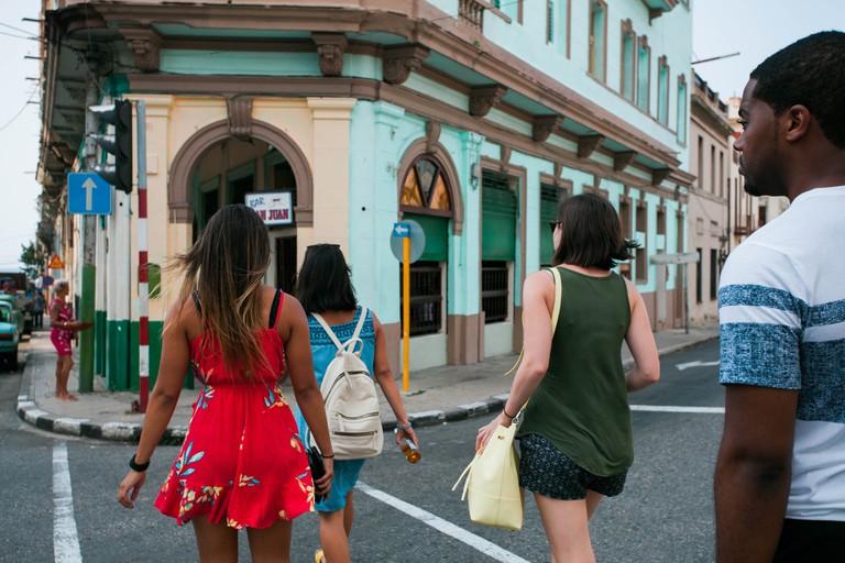 American travelers in Havana