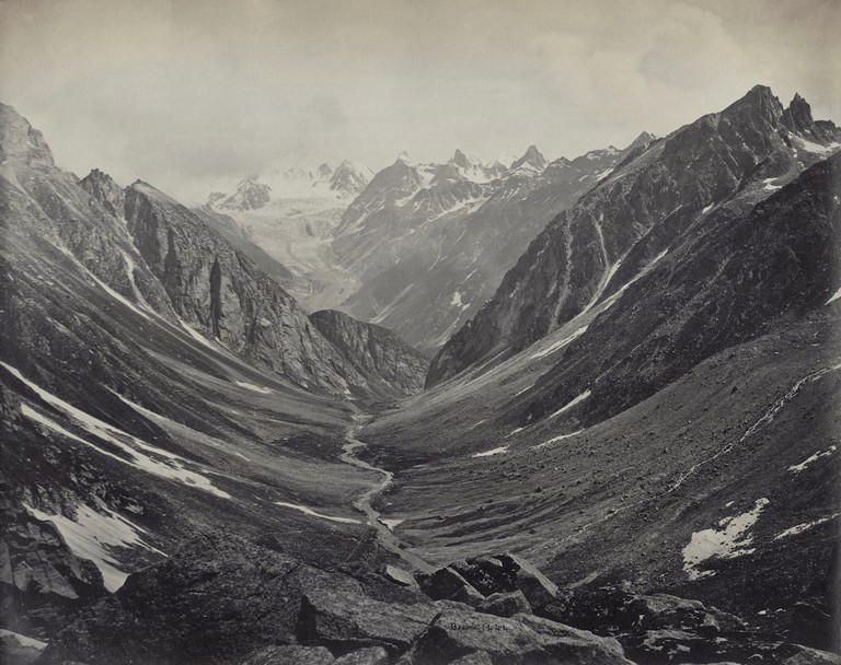 Samuel Bourne, Hama Pass View, Lahaul Valley, Himalayas, 1866