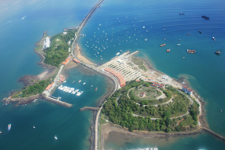 Amador Islands at the entrance of the Panama Canal