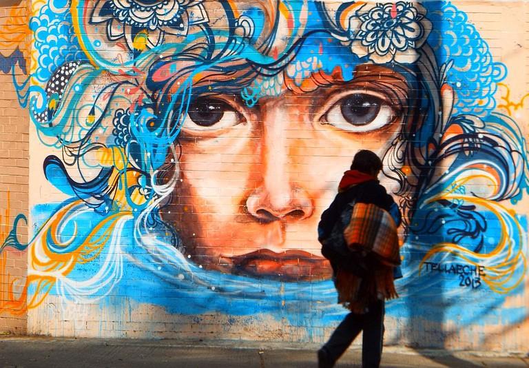 Jorge Tellaeche mural in Colonia Roma