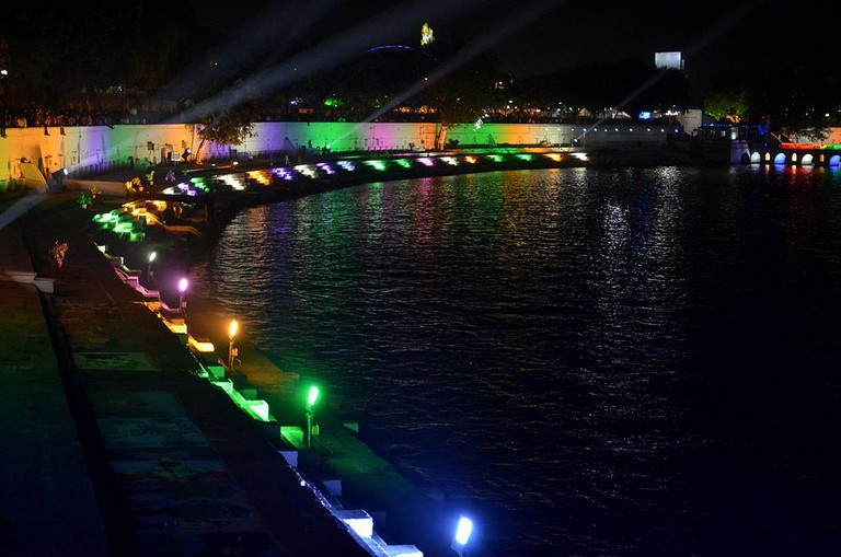 Kankaria Lake during the Kankaria Carnival