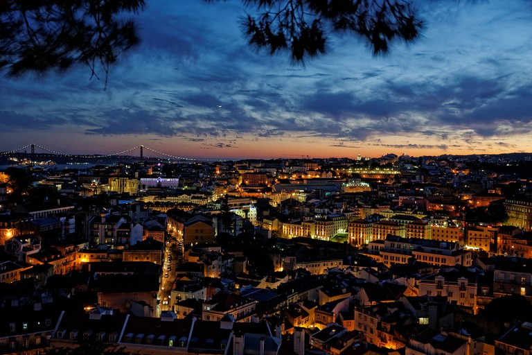 There are plenty of romantic sunsets to be seen in Lisbon