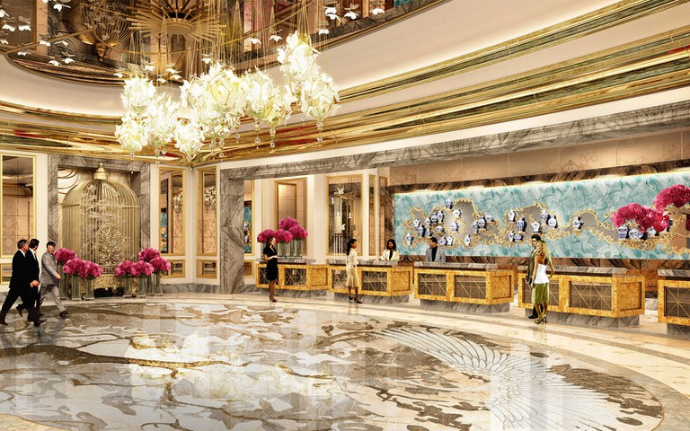 A rendering of the lobby at Grand Lisboa Palace Hotel, scheduled to open in 2018.