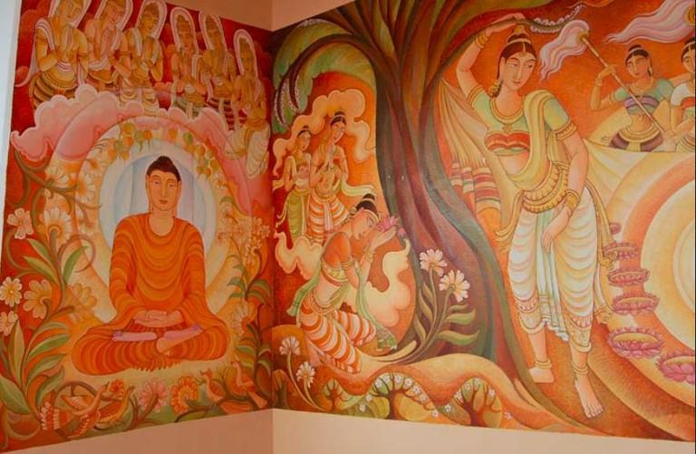 Lumbini_ Temple Mural by Jayasiri Semage