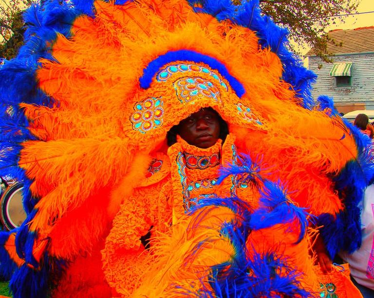 Mardi Gras Indian on Super Sunday
