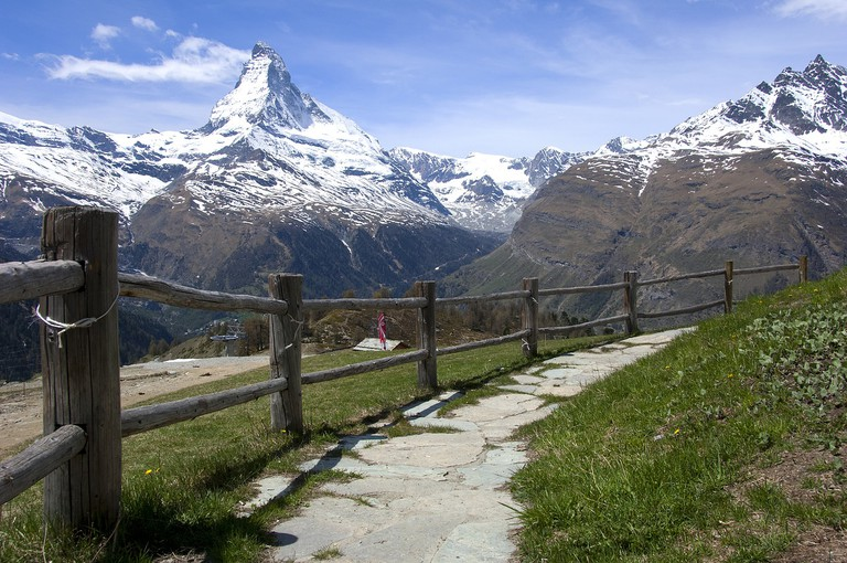 Take a walk that you'll never forget in the Swiss Alps