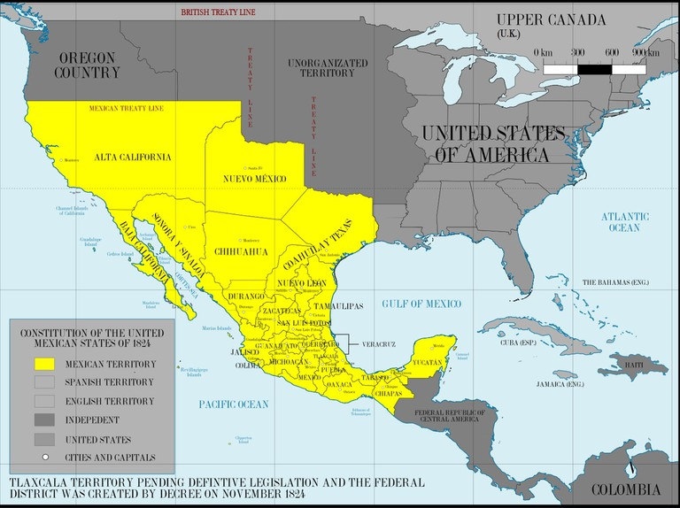 Mexico in 1824
