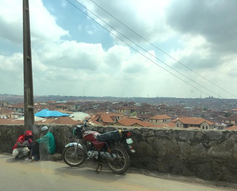 An okada rider taking a break