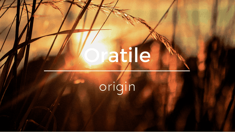 Oratile South African name and its meaning