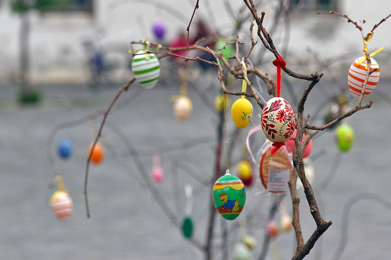 Painted easter eggs in Hungary