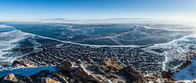 Panorama of Lake Baikal