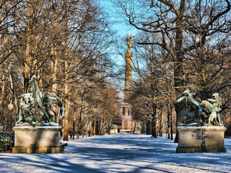 Tiergarten as a winter wonderland