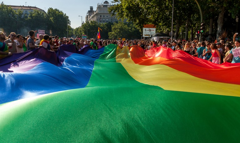 Rainbow flag at Madrid Pride