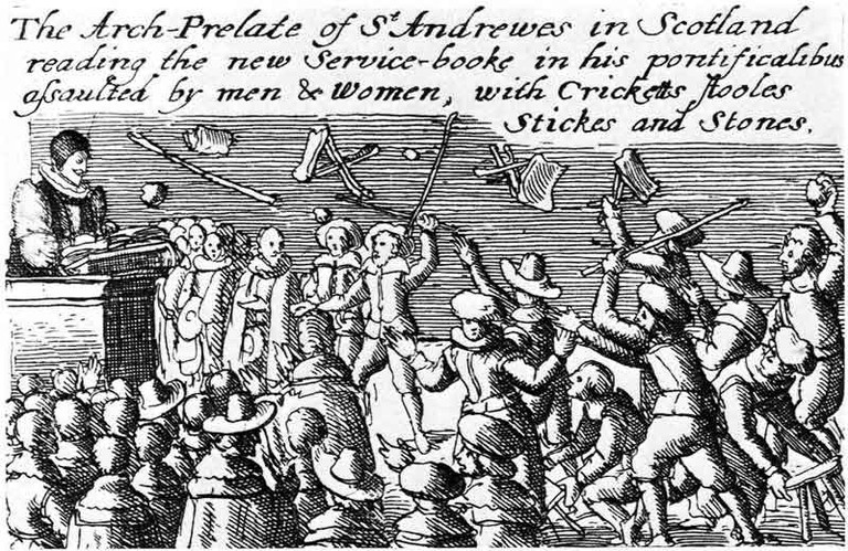 Riot Against Anglican Prayer Book c.1637