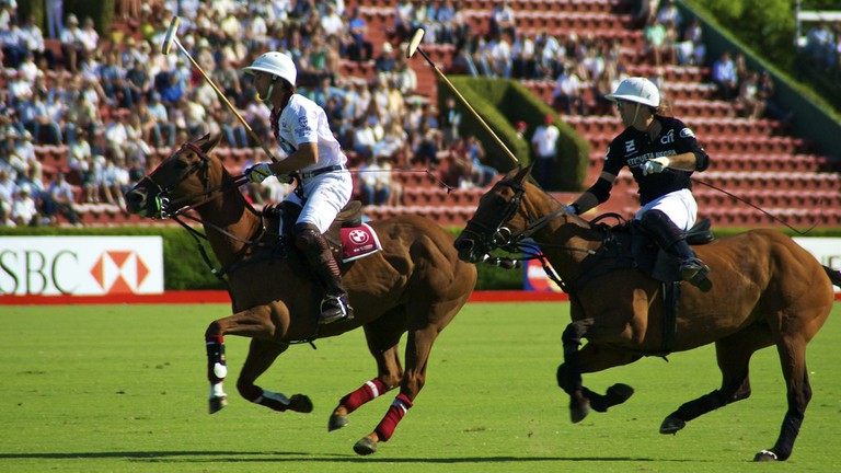 Polo players at Palermo's Cathedral of Polo