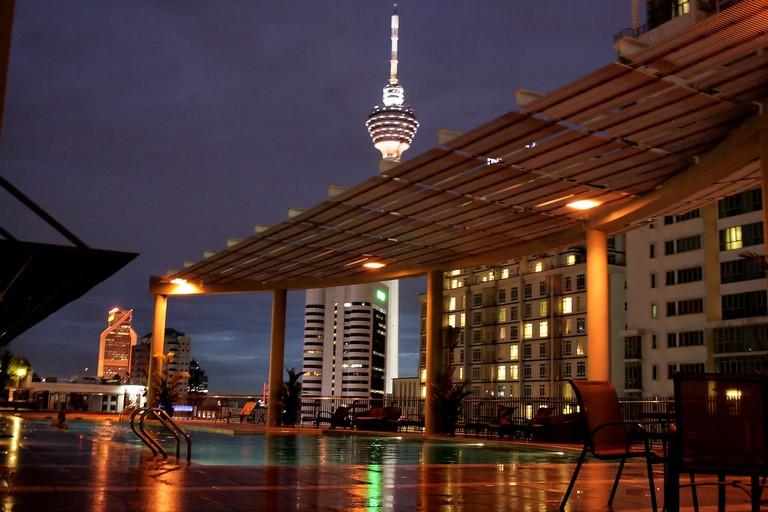Rooftop pool in Ascott Kuala Lumpur