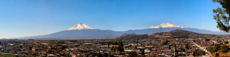 Popocatepel and Iztaccíhuatl volcanoes