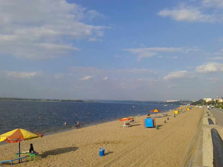 Samara Beach on the banks of the Volga is a major drawcard for the city