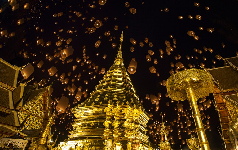 Doi Suthep during new years celebrations
