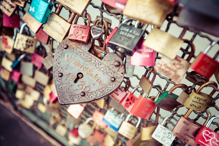 Love locks come in all colours, shapes and sizes
