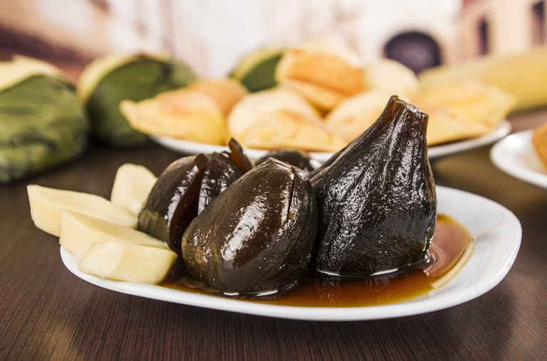 Deliciously soaked Ecuadorian figs