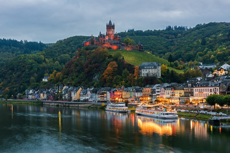 View of Cochem from across the Moselle