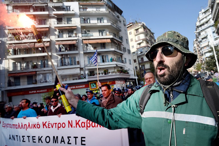 Labour union protest in Thessaloniki | © Giannis Papanikos/Shutterstock