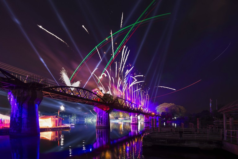 Fireworks over the River Kwai | © tapanuth/Shutterstock