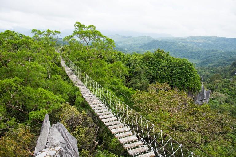 Hanging Bridge at Masungi Georeserve
