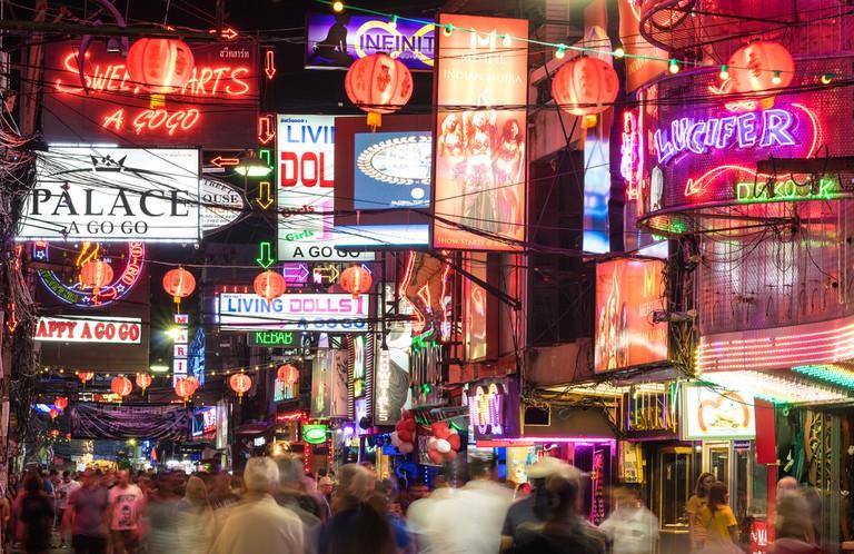 Famous walking street in Pattaya