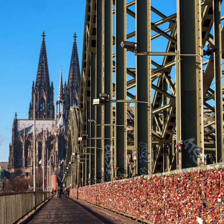 Thousands of locks that line the bridge