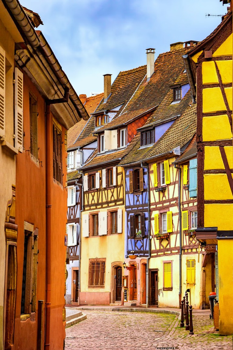 Colmar and its colourful houses. Alsace, France