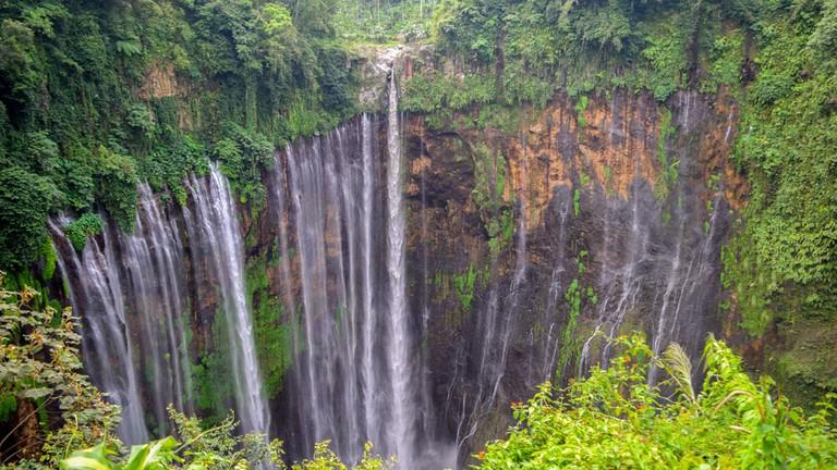 Coban Sewu waterfall on the border of Malang and Lumajang