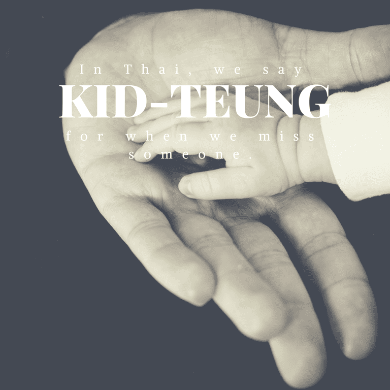 Kid-teung for when you miss someone