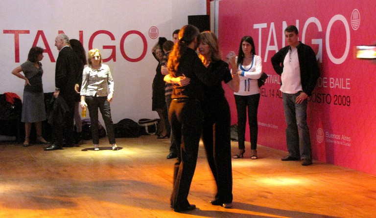 Tango dancers at the Buenos Aires tango festival