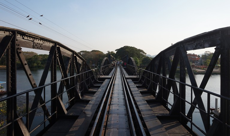 A bridge over the river in Kanchanaburi