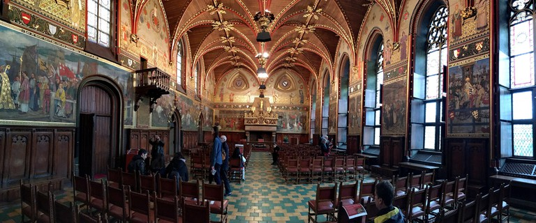 The 'Gothic Hall' inside Bruges' City Hall