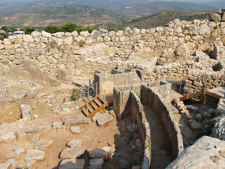 The Granary and Grave Circle A in Mycenae