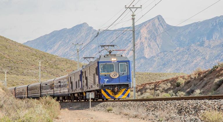 The Blue Train from Pretoria to Cape Town